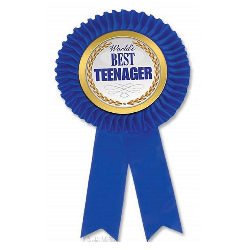 World's Best Teenager Award Rosette