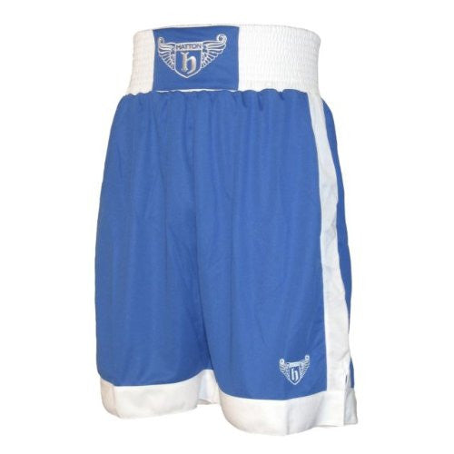 Hatton Boxing Polyester Boxing Club Shorts - Blue/White