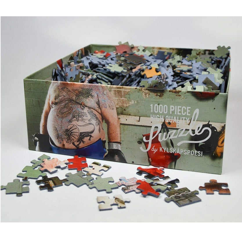 Boxer Jigsaw 1000 Piece by Kylskapspoesi Box