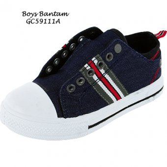 Boys Fantastic 'Oakland Bay CA' Canvas Trainers. Navy/Red/white. MJ4088 OCA