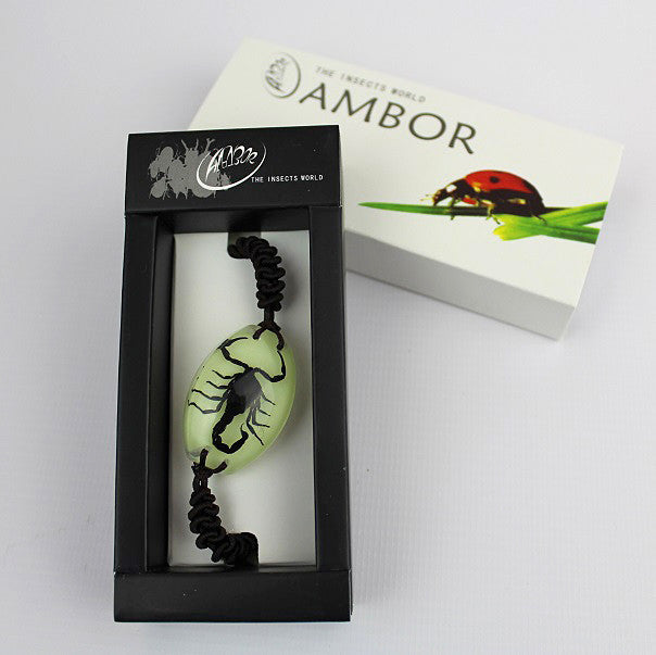 Real Insect 'Black Scorpion' Glow Bracelet