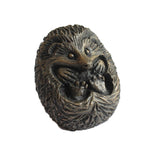 Small Curled Hedgehog Cold Cast Bronze Resin Sculpture