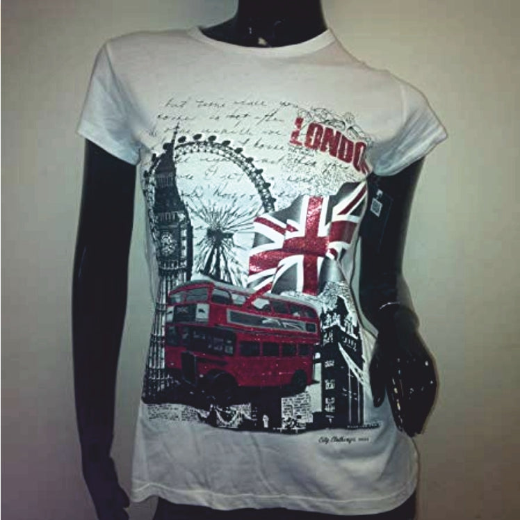 City Clothing Ladies UK Skinny Fit T-Shirt white