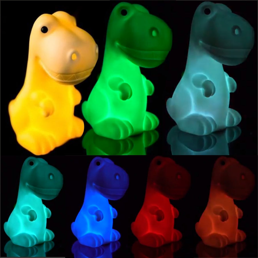 Colour Changing LED Dinosaur Night Light or Dinosaur Lamp