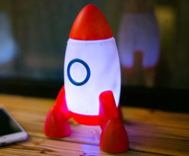 Colour Changing LED Space Rocket Night Light
