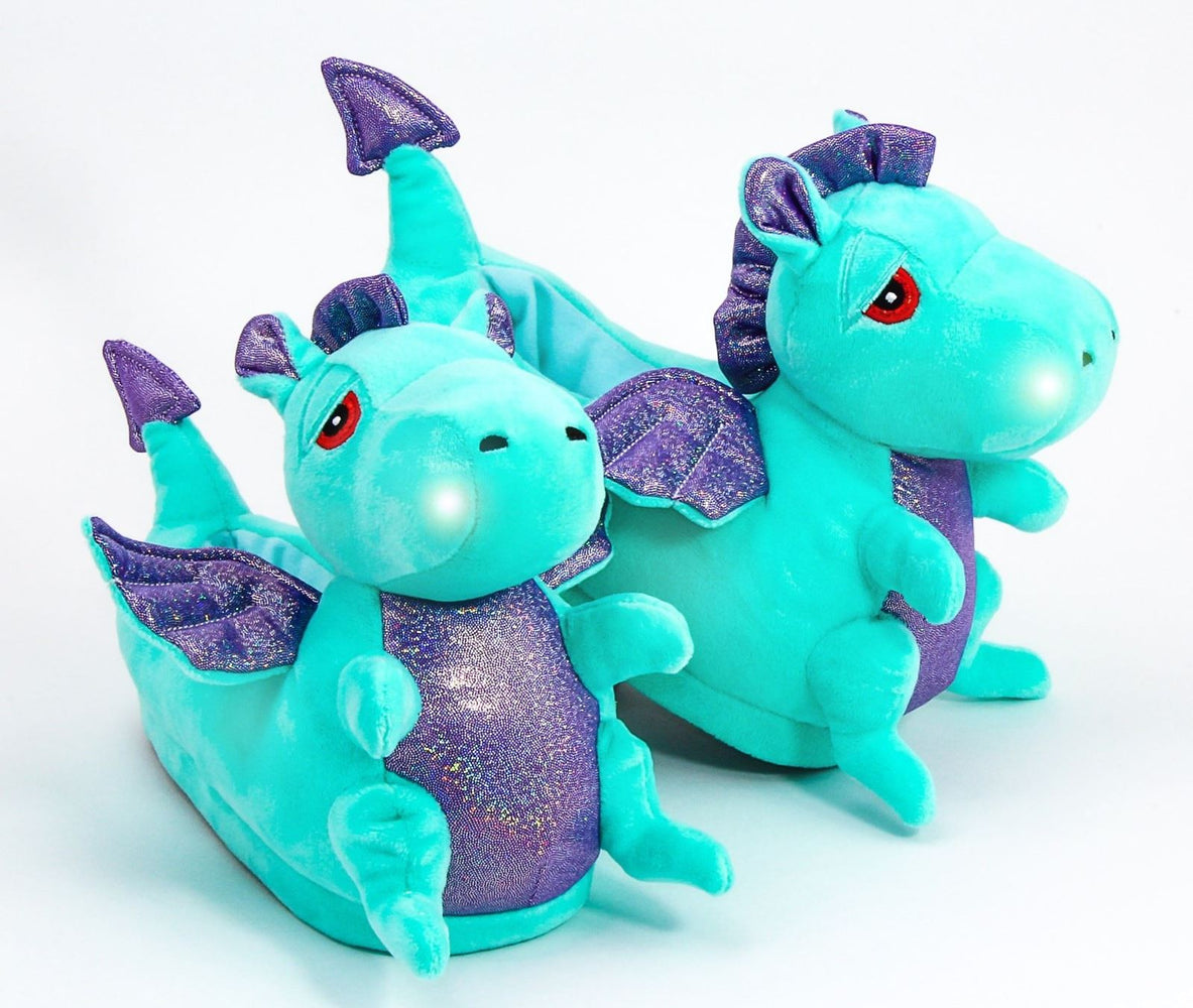 Adult Dragon Light Up Slippers or Dragon Slippers part of our funny slipper range