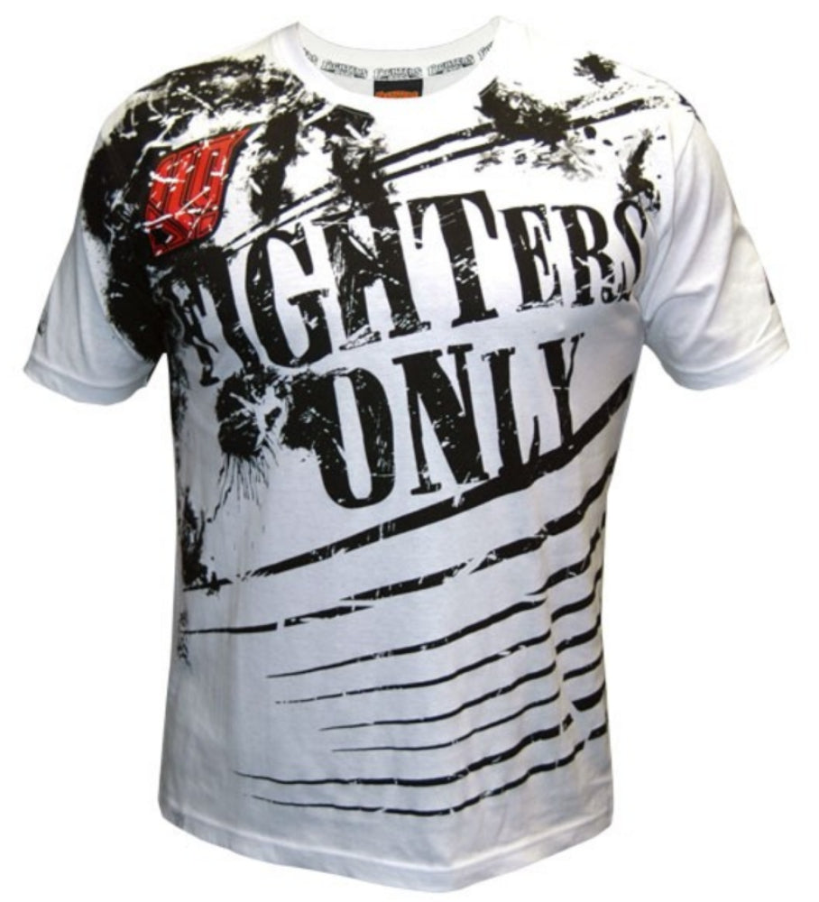 Fighters Only White Splatter MMA T-Shirt