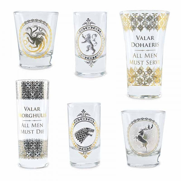 Game Of Thrones Set of 6 Premium Collectable Drinking Glasses