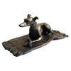 Greyhound on Rug Cold Cast Bronze Resin Sculpture