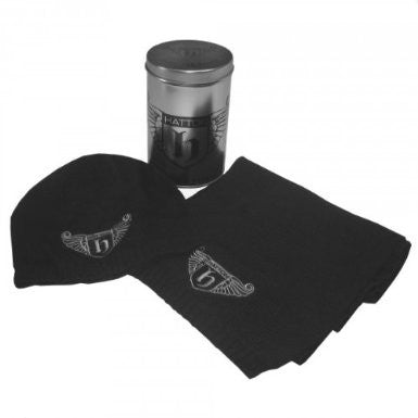 HATTON BOXING ~ Knitted Scarf & Beanie Gift Set Pack ~ Boxing Ricky Hatton Black