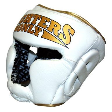 Fighters Only Men's MMA Boxing Head Guard (White) Medium