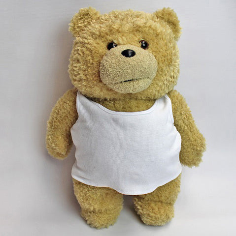 'Ted 2' Movie White Vest Soft Plush Toy 18""
