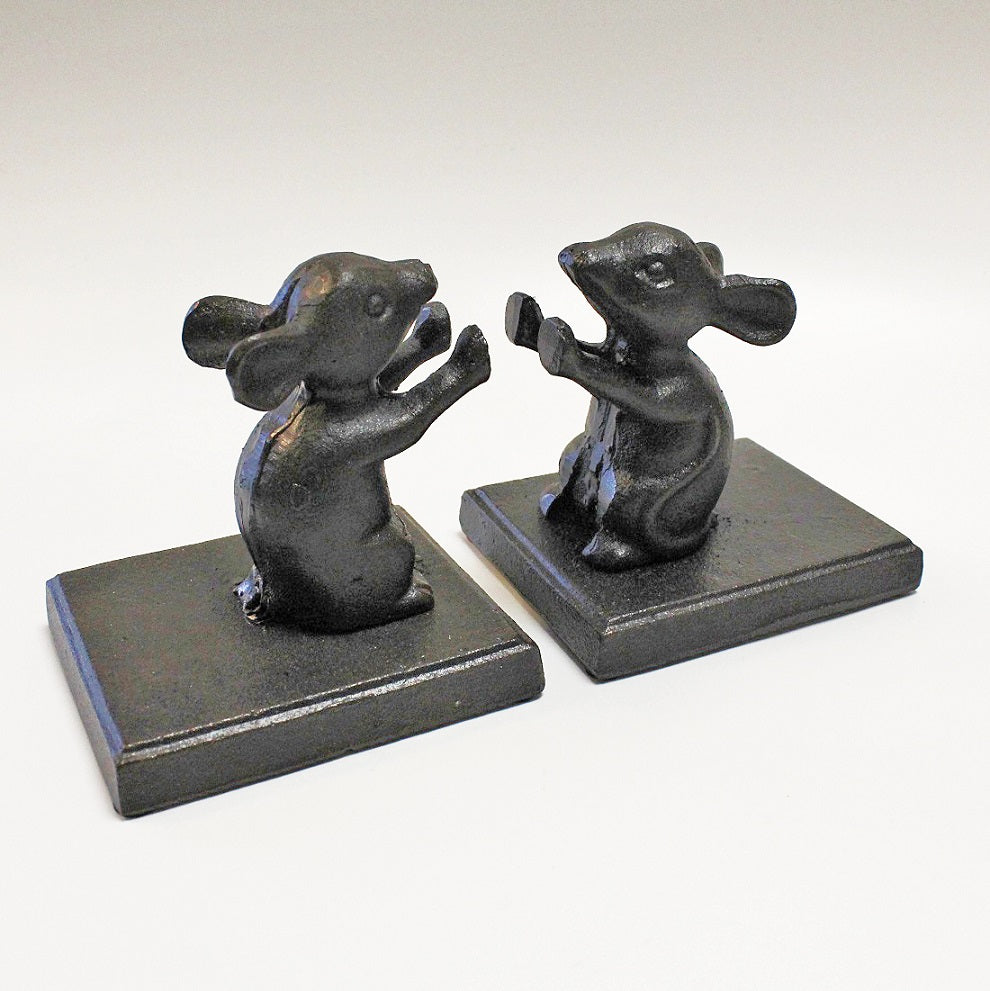 Cast Iron Mice Bookends by Stone The Crows