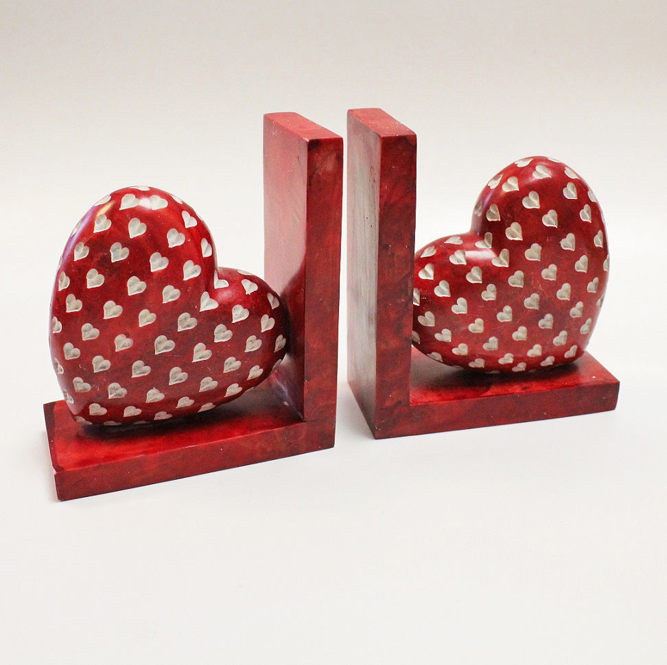 Red Love Heart Bookends