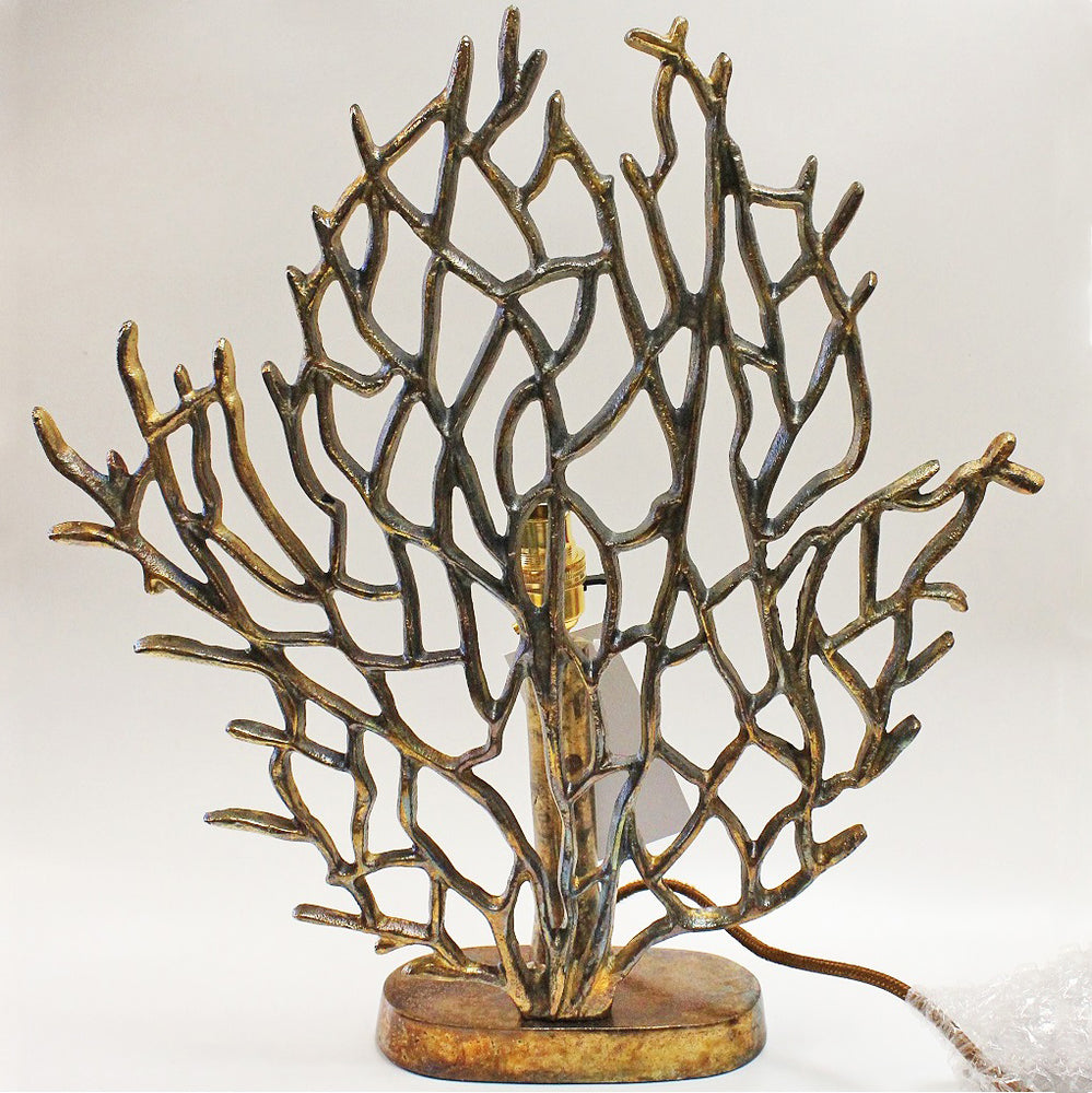 Copper Gold Coral Lamp by Stone The Crows