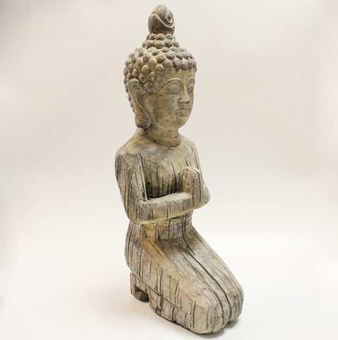 Large Kneeling Stone Buddha by Stone The Crows