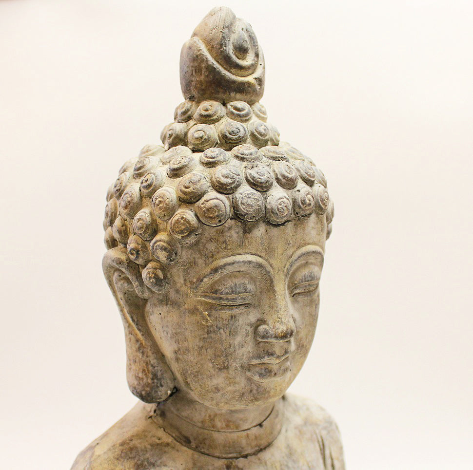 Large Kneeling Stone Buddha by Stone The Crows Head