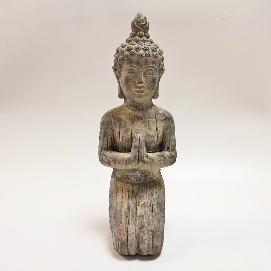 Small Kneeling Stone Buddha by Stone The Crows Front