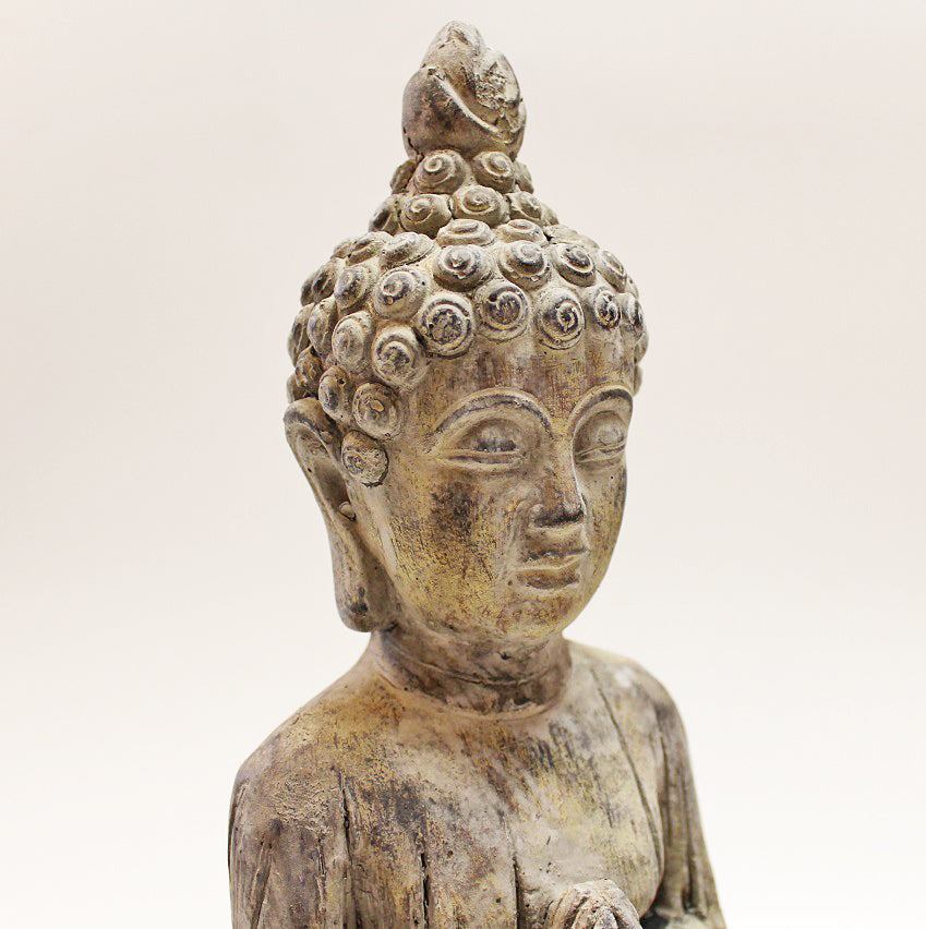 Small Kneeling Stone Buddha by Stone The Crows Head
