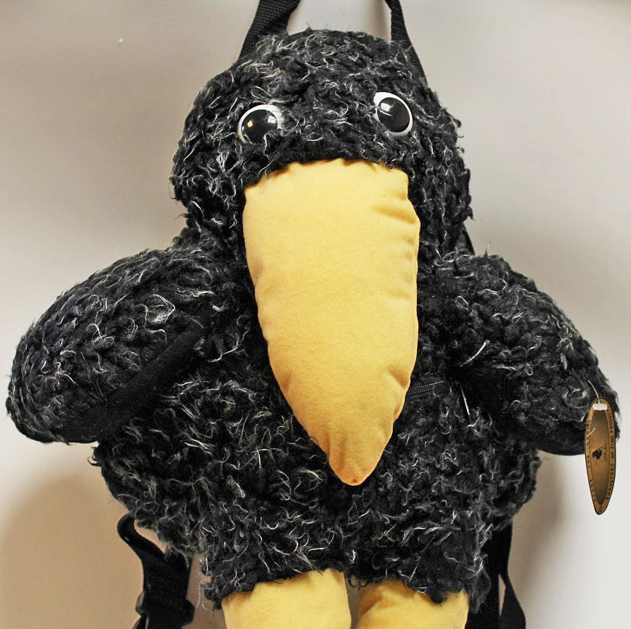 Plush Crow Backpack by Stone The Crows Face