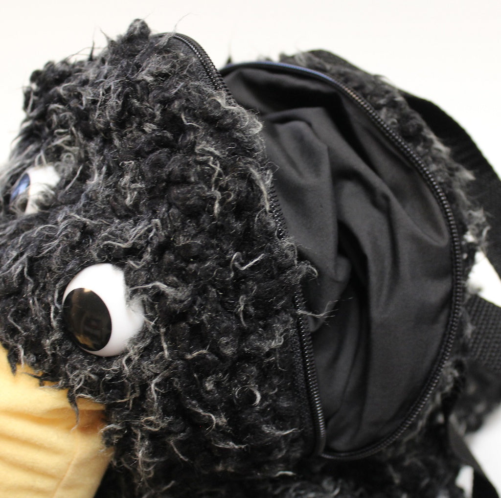 Plush Crow Backpack by Stone The Crows Zip 1