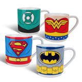 Justice League of America - Set of 4 Stacking Mugs