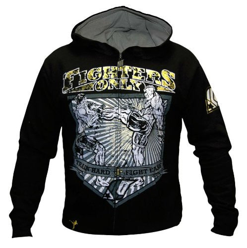 Fighters Only Mens 'The Kick' Hoodie Top