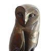 Large Barn Owl Cold Cast Bronze Resin Sculpture