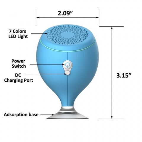 Size of the floating speaker or bath speaker
