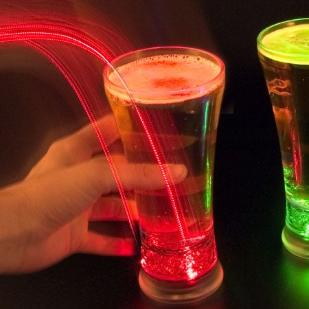 led strobing beer glass great gift for him or gadget gifts for men