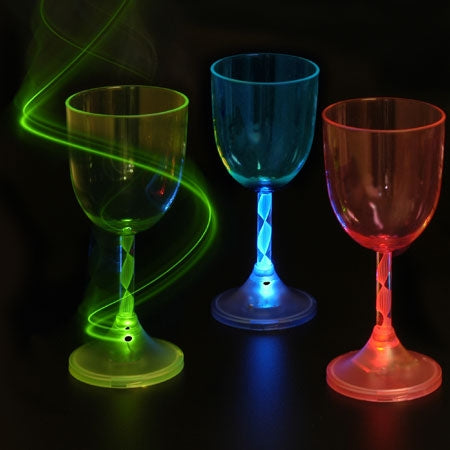 LED Wine Glass part of the Christmas Wine Glasses collection. Light Up Wine Glasses