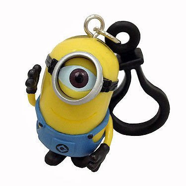 "Despicable Me 2 ~ Bag Clips / Keyring ~ Approx: 2"" Mini Minion"