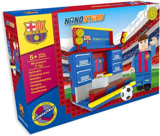 Nanostars FC Baarcelona Changing Room Brick Construction with Box