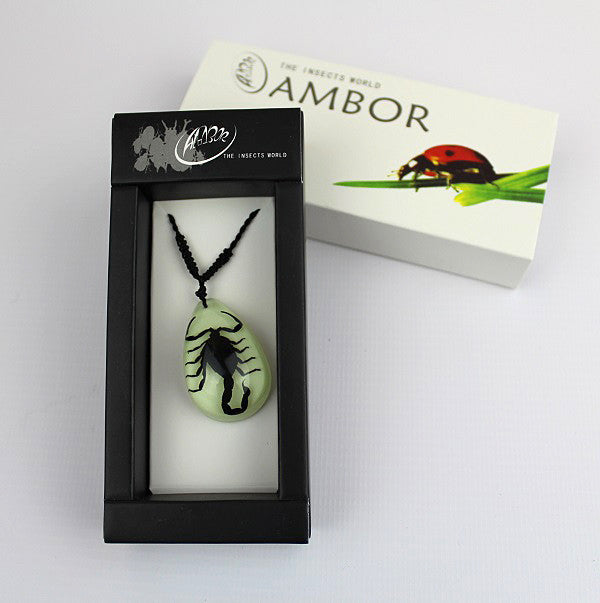 Real Insect 'Black Scorpion' Glow Necklace