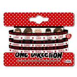 Official One Direction Gummy Band Set: Phase 3 - Red/Black/White