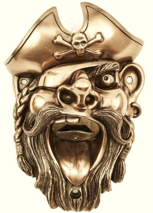 Pirate Wall Mounted Bottle Opener or Novelty Wall Bottle Opener