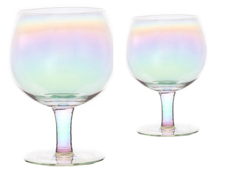 Rainbow Gin Glasses - Set of 2