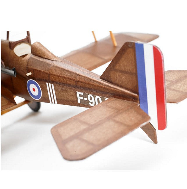 SE5A flying scale model aircraft kit tail view