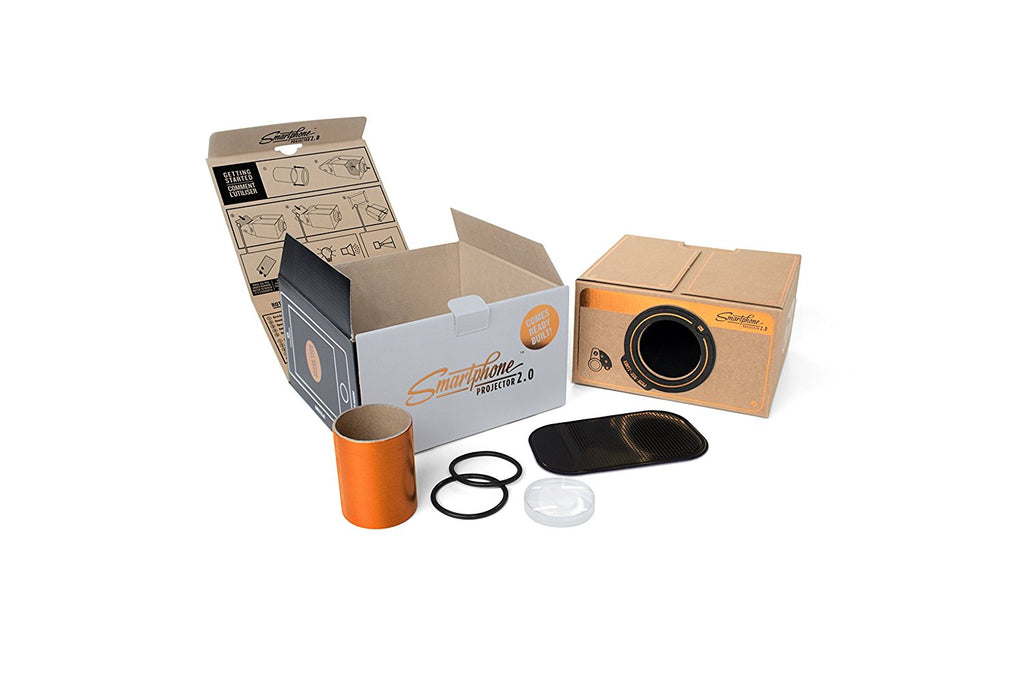 Smartphone Projector Copper out of box