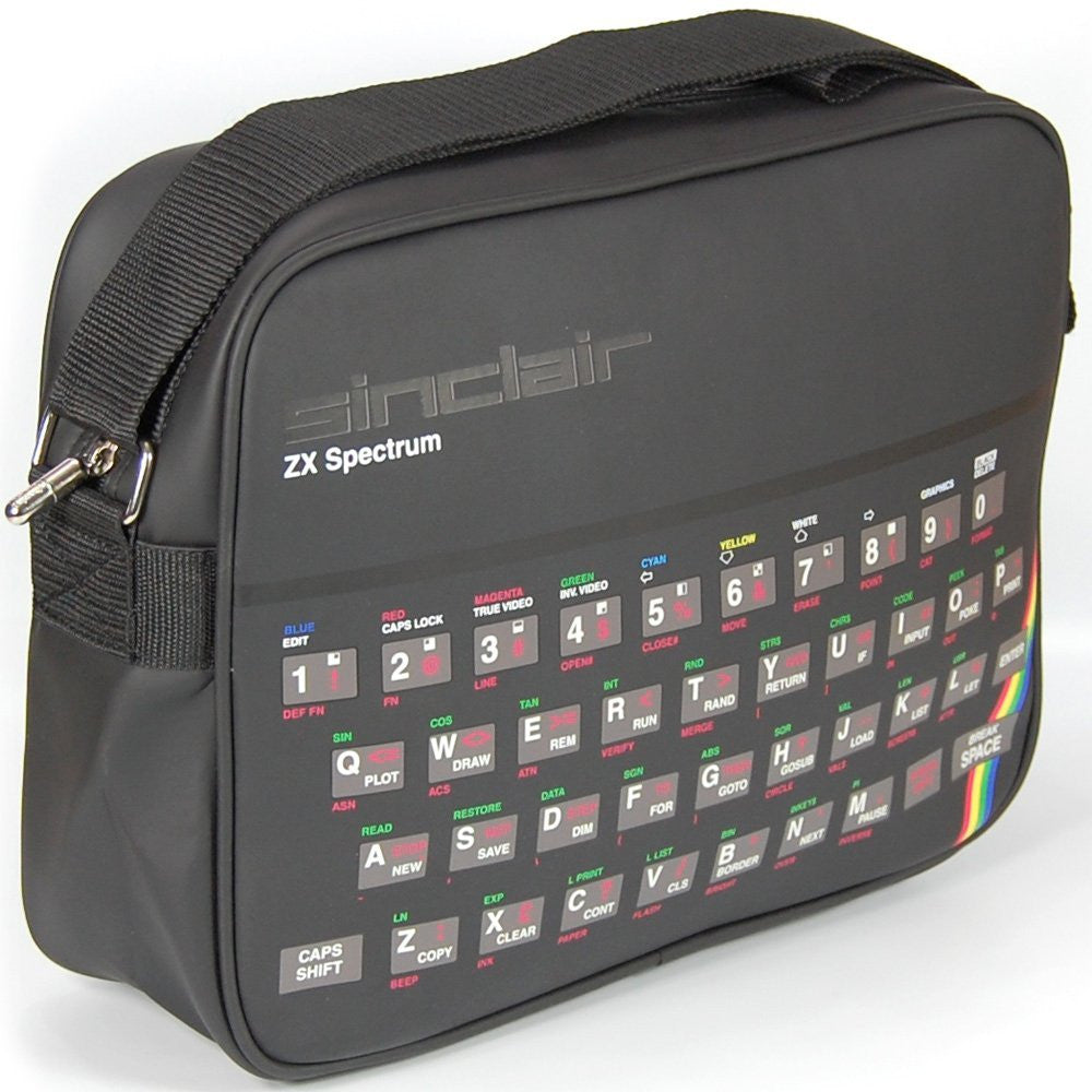 Sinclair ZX Spectrum Retro Style Messenger Shoulder Bag