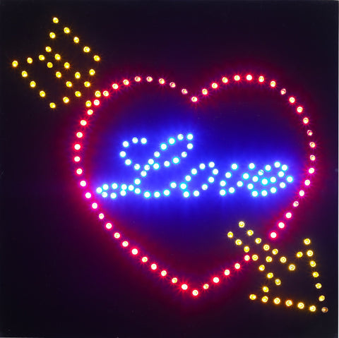 Steepletone Retro LED 'Love' Style Sign
