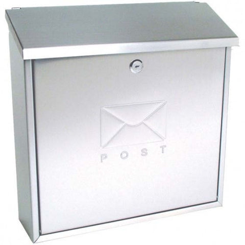 Sterling MB03BKR Top Opening and Reverse Mounting Contemporary Post Box - Silver