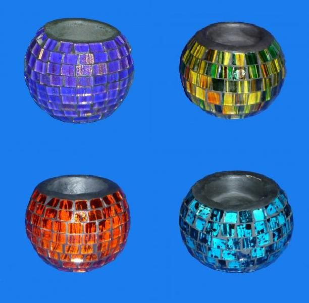 Sunlover Mosaic T-Light / Candle Holder 8cm