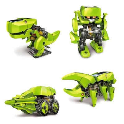 T4 4 in 1 Solar Dinosaur Robot DIY Kit