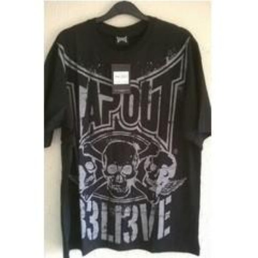 Tapout Short Sleeve Believe Black T-Shirt - Large