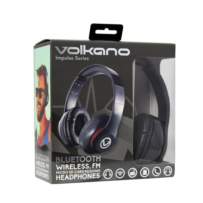 Volkano Impulse Series Bluetooth Headphones - Black