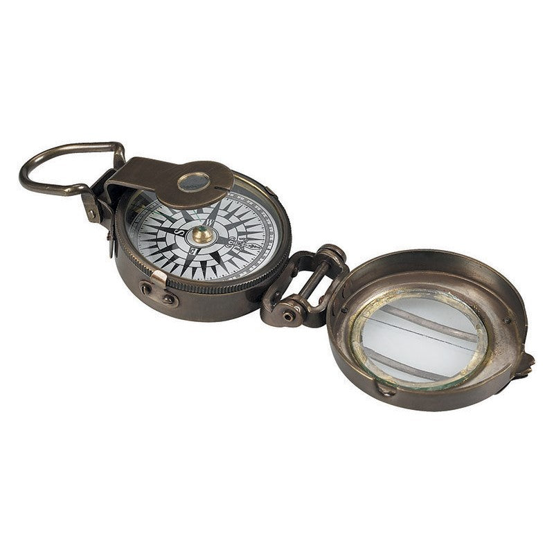 Authentic Models Pocket WWII Compass - Brass Arm Compass
