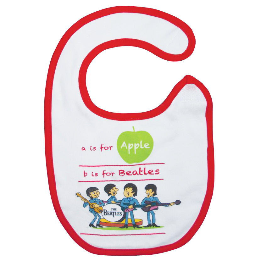 The Beatles A Is For Apple Baby Bib