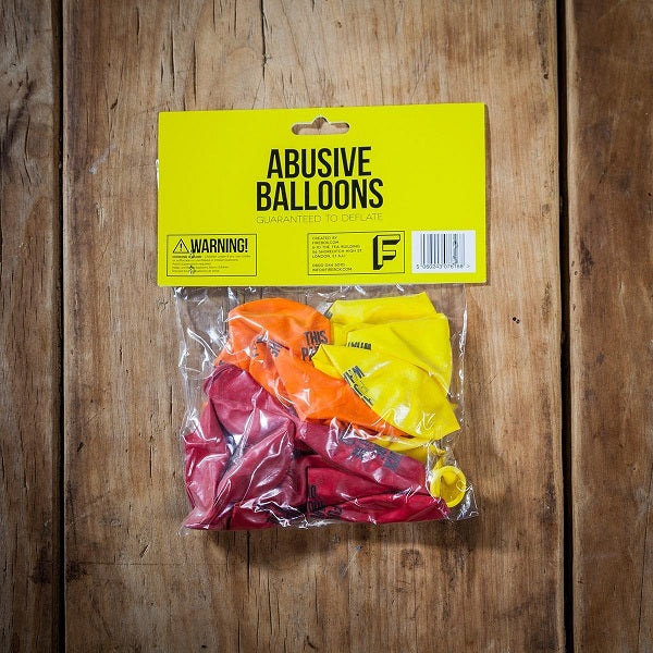 abusive party balloons in a packet