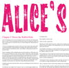 'Alice In Wonderland' (Pink Version) Full Book Text Poster Print